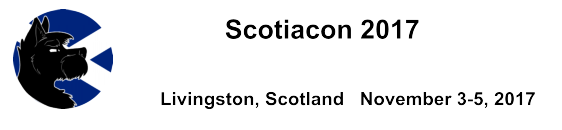 ScotiaCon (Livingston, Scotland) November 3-5, 2017